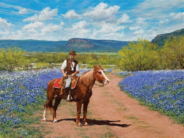 Guarding The Bluebonnets, by Terry Barnes
