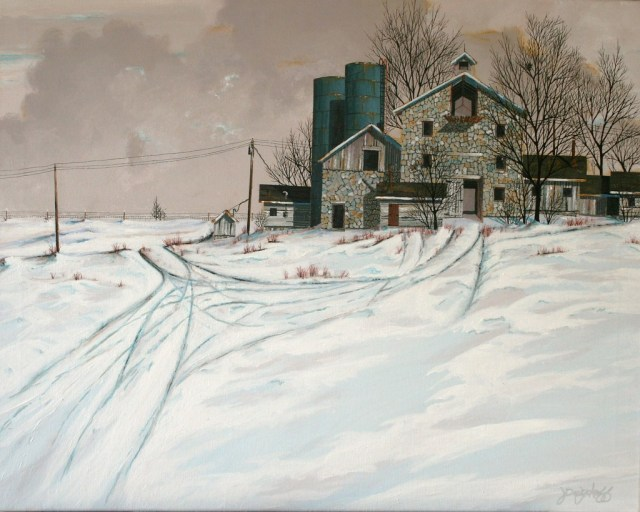 Old Stone Dairy Barn, by John Wyckoff