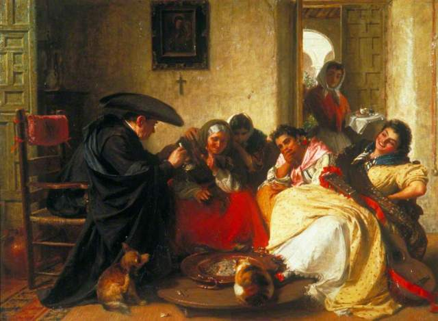 A Chat Round the Brasero, 1866, by John Phillip