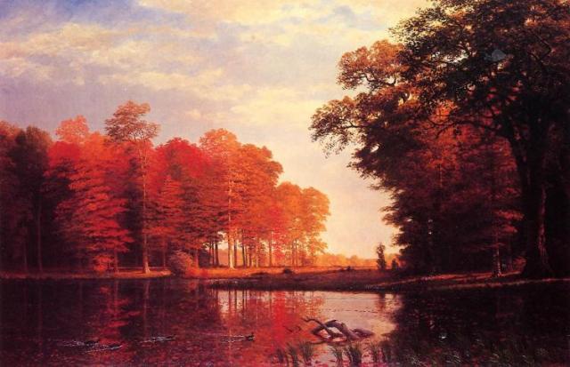 Autumn Woods, by Albert Bierstadt