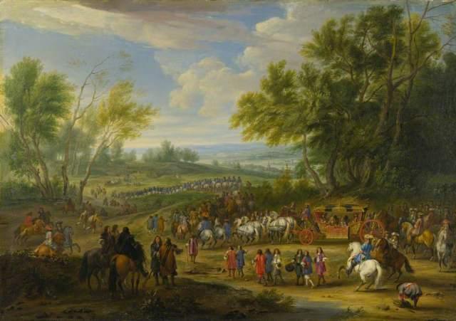 A Cavalcade, by Adam Frans Van Der Meulen
