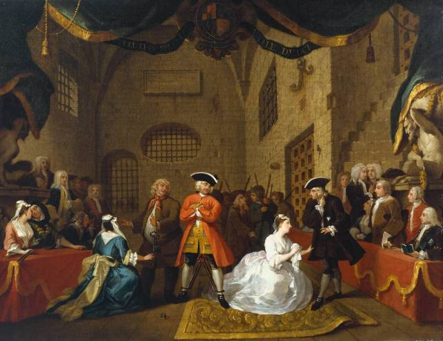 A Scene from 'The Beggar's Opera' VI 1731 by William Hogarth 1697-1764